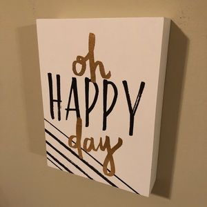 """Oh Happy Day"" Wood Decor Wall Hanging"